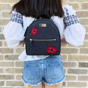 Kate Spade grove street Poppy Sammi Backpack Denim